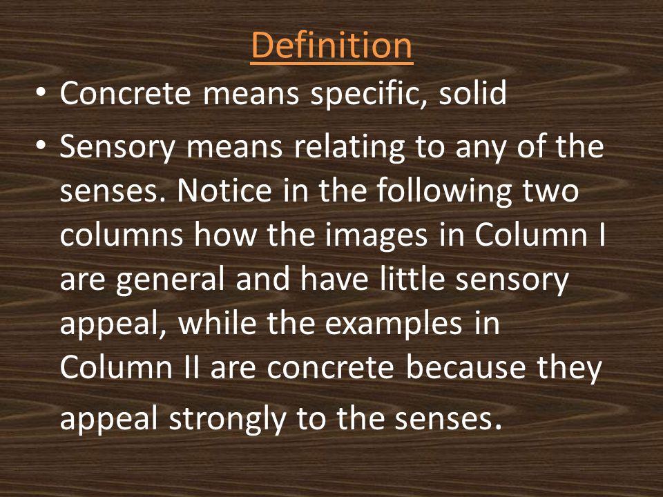 sensory writing definition
