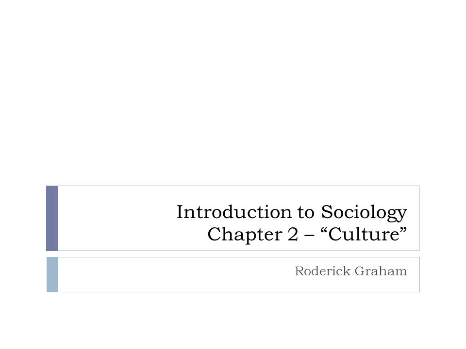 Introduction to Sociology Chapter 2 – Culture