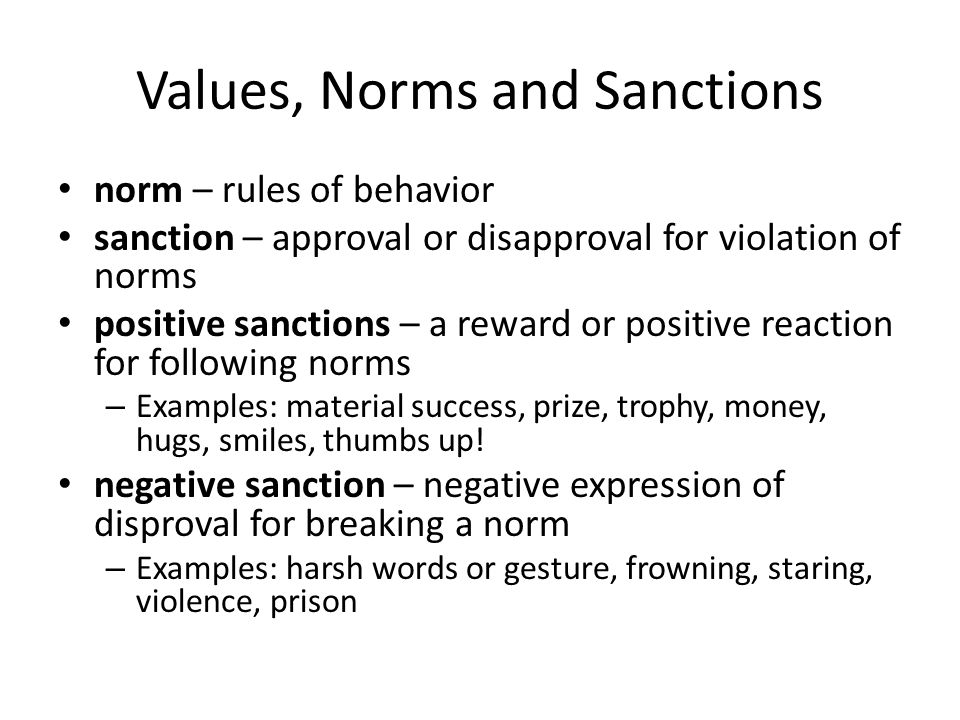 positive sanction definition sociology
