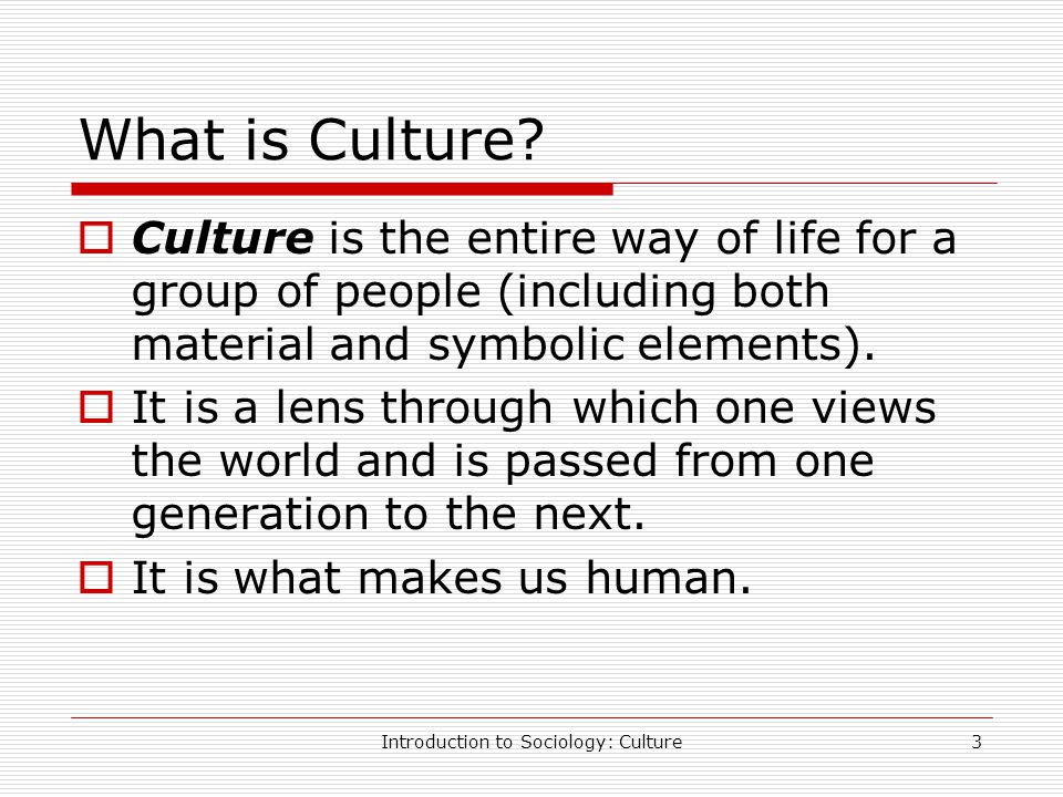 Introduction To Sociology Culture