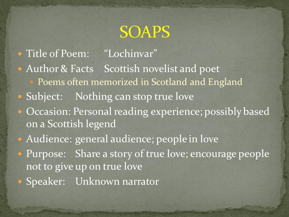 lochinvar poem introduction
