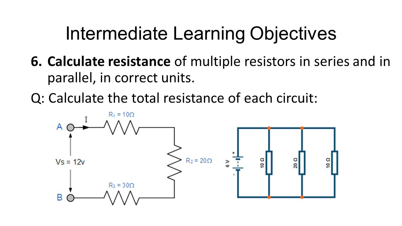 Electricity Circuits Ppt Video Online Download Electrical Circuit Symbols For Kids Learning Diagrams Intermediate Objectives