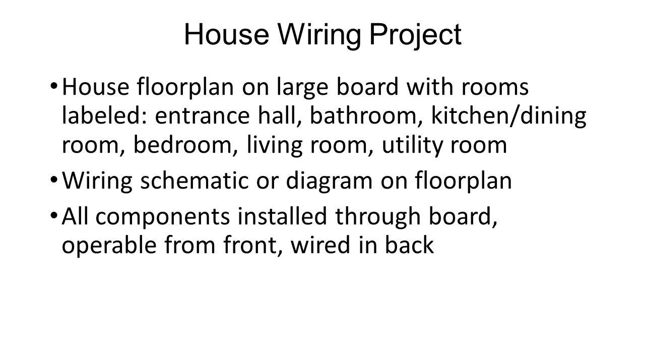 Electricity Circuits Ppt Video Online Download House Wiring Schematics Project
