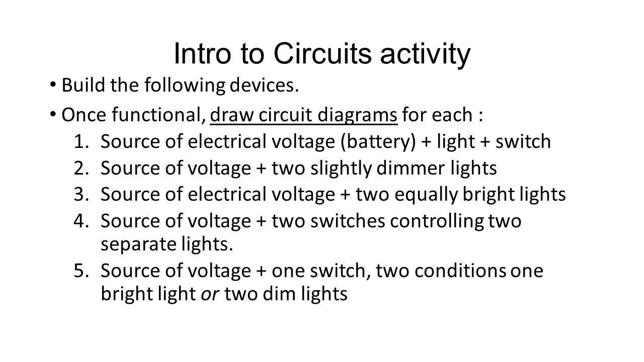 Electricity Circuits Ppt Video Online Download Draw A Circuit Diagram Intro To Activity