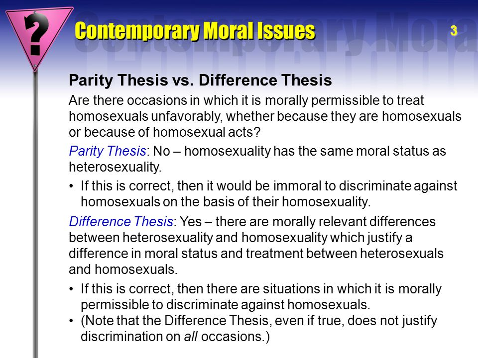 thesis statement homosexuality
