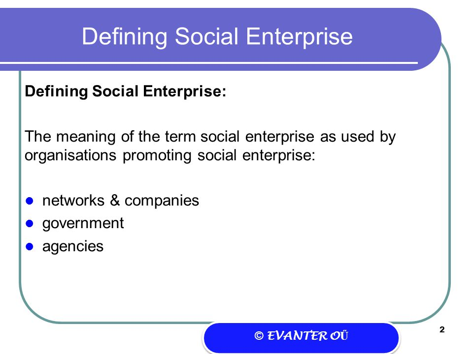Social Enterprise – a different approach to business?