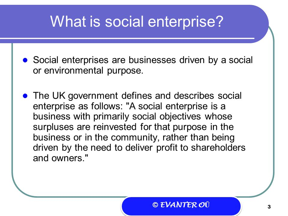 Social Enterprise – a different approach to business? - ppt
