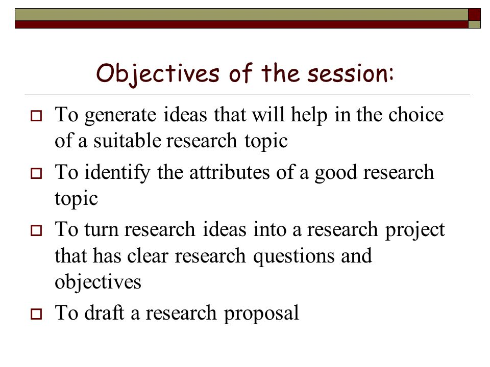 good research topic ideas