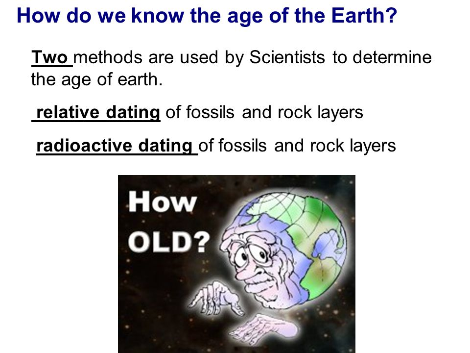 how old is the earth according to radioactive dating