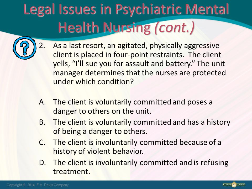 Ethical And Legal Issues In Psychiatric Mental Health Nursing Ppt