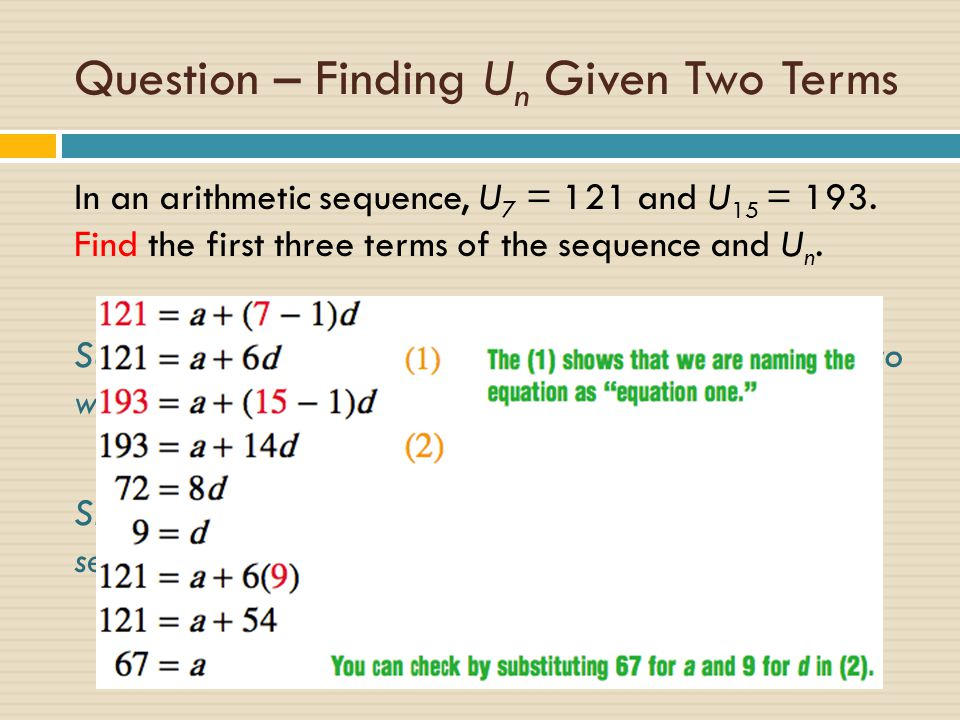 Topic 1 – algebra arithmetic sequences & series - ppt download