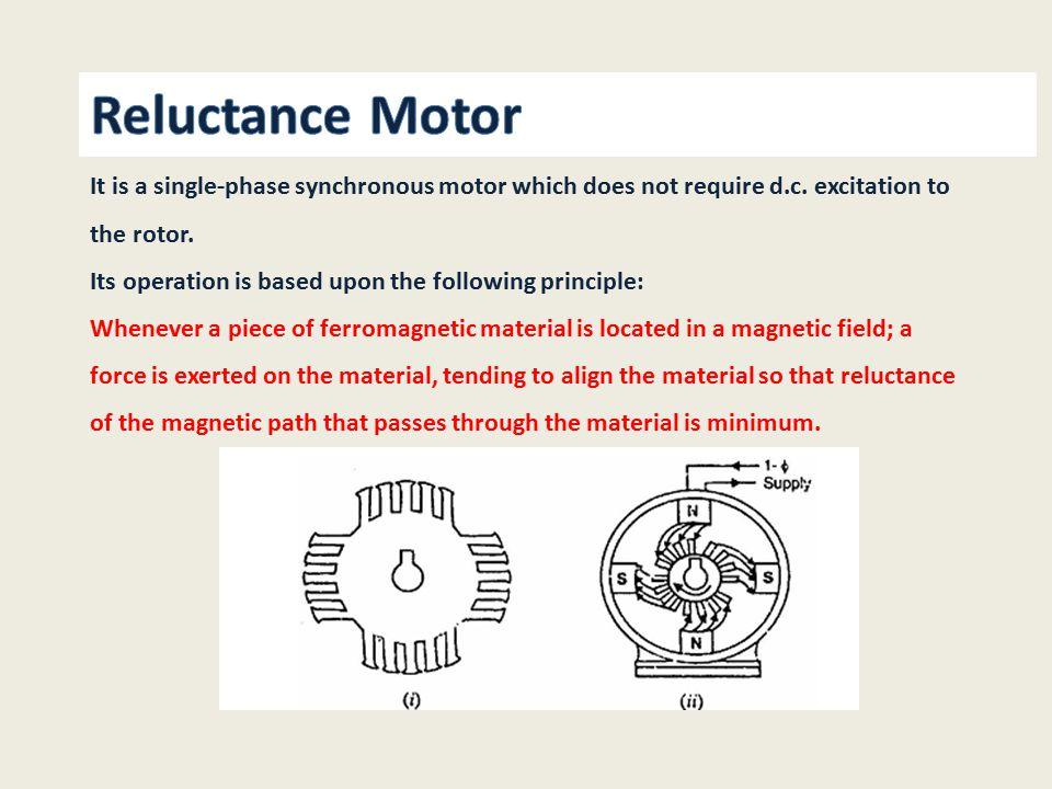 single phase synchronous motor pdf