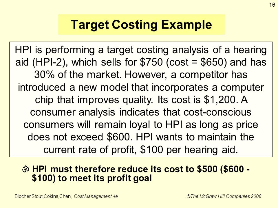 target costing example