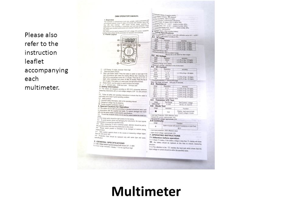 How To Use The Stelr Multimeter Ppt Download