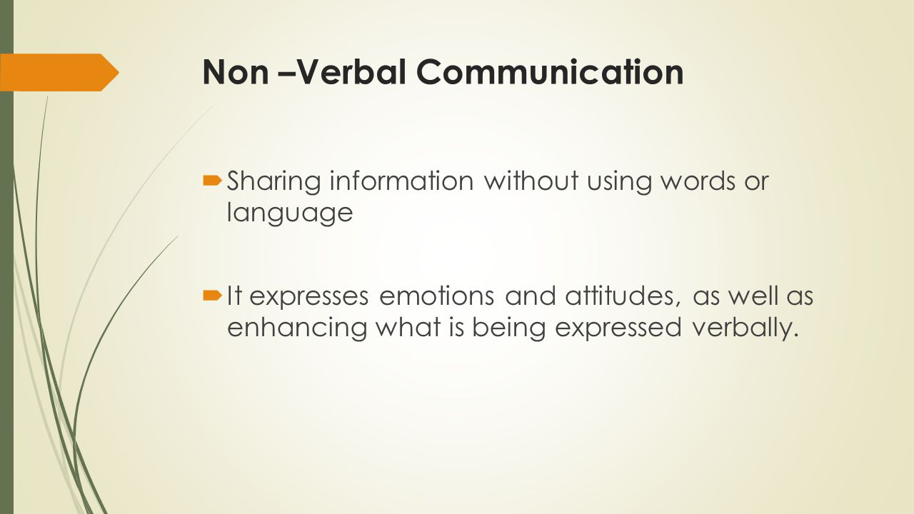 Non –Verbal Communication