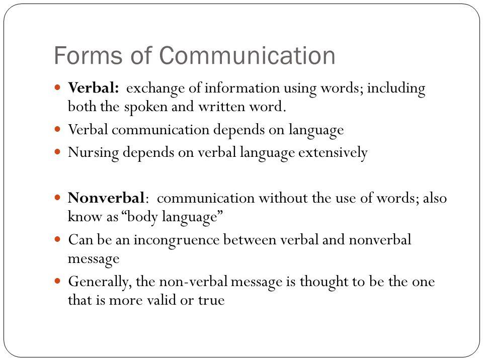 non verbal communication in nursing