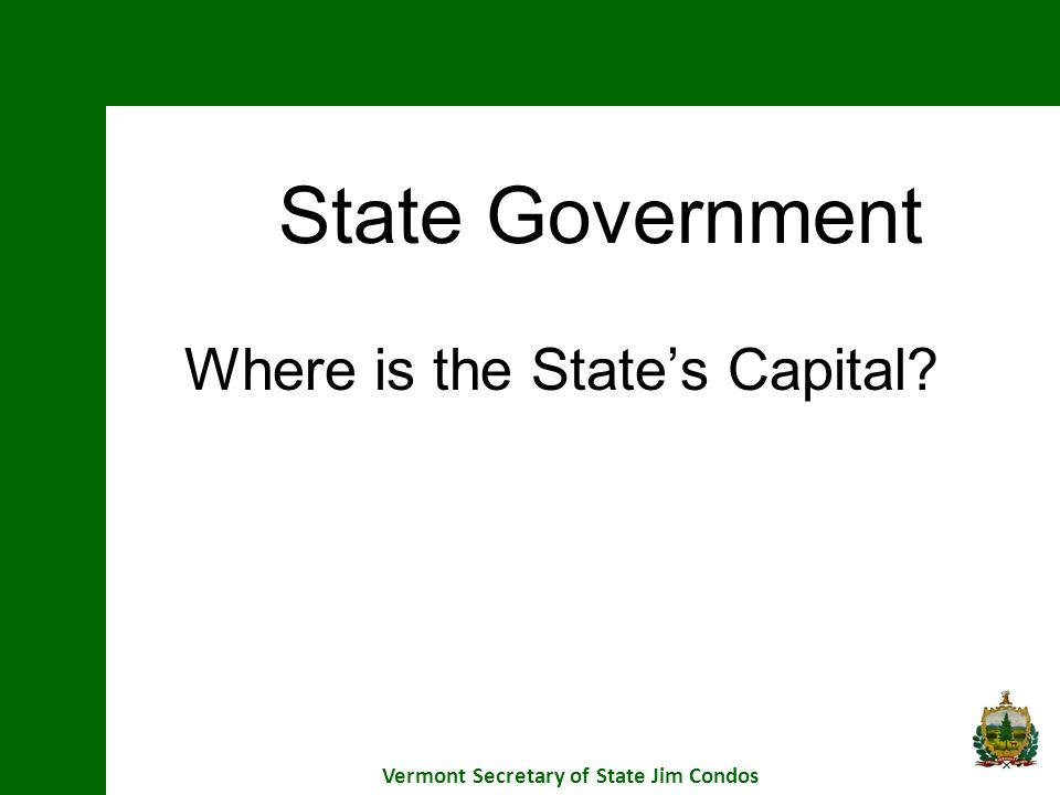 Where is the State's Capital