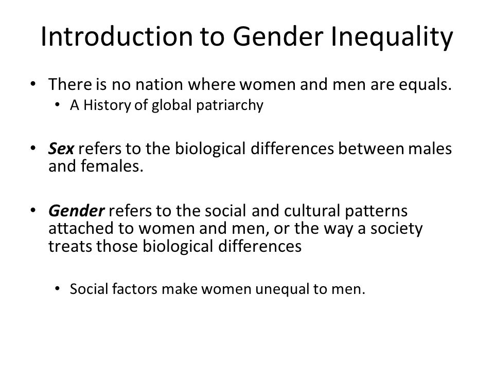 Introduction to Gender Inequality