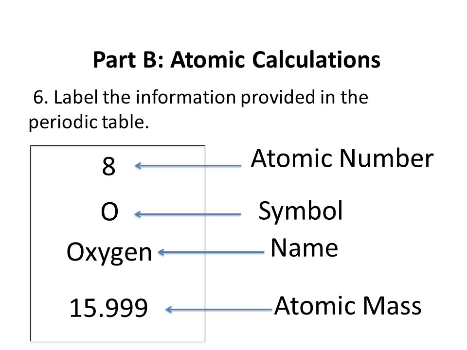 Part a atomic structure ppt video online download part b atomic calculations urtaz Gallery