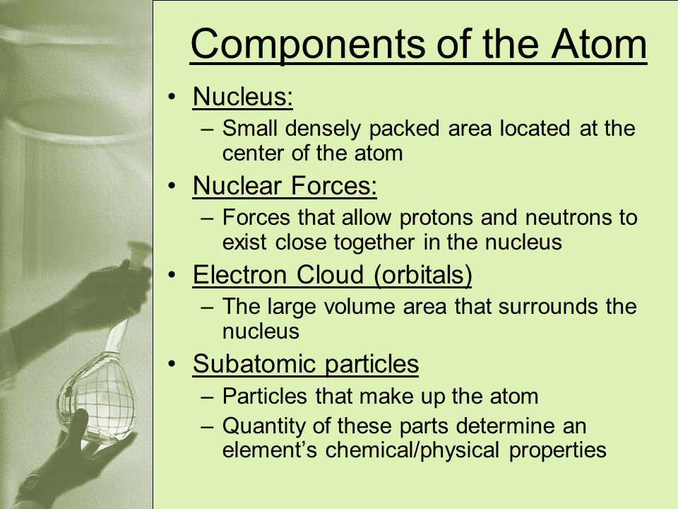 Components of the Atom Nucleus: Nuclear Forces: