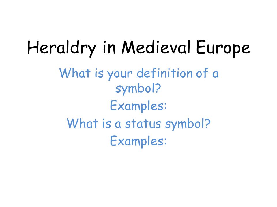 Heraldry In Medieval Europe Ppt Download
