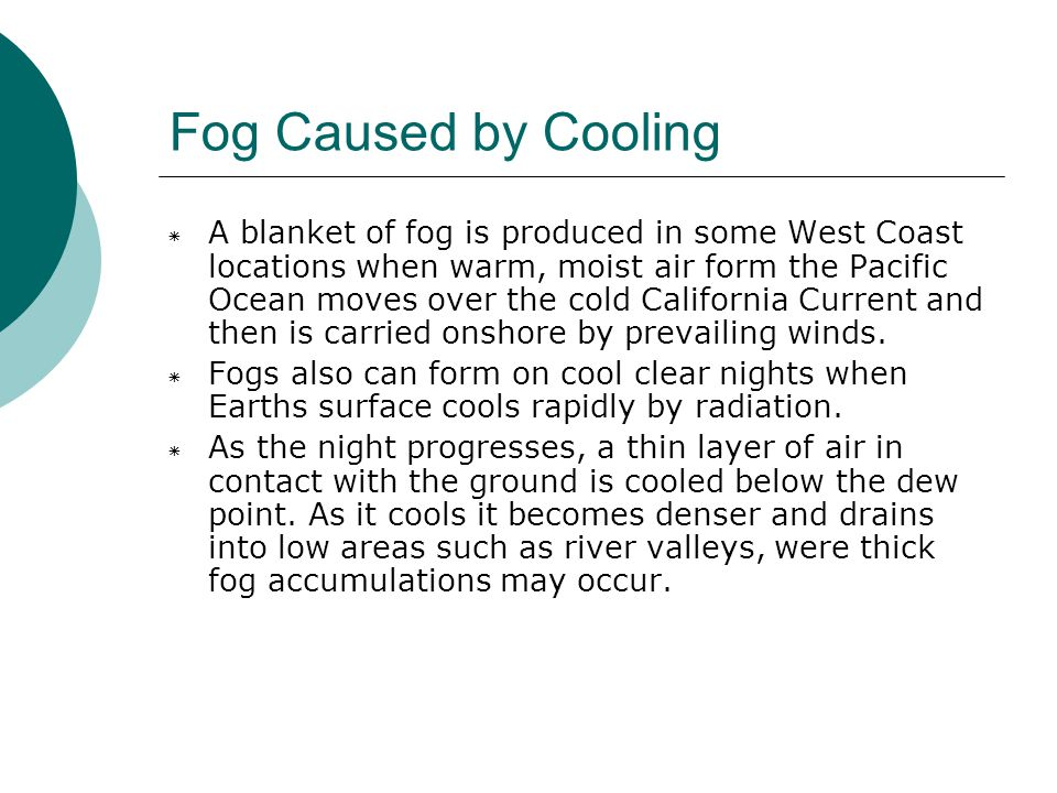 Fog Caused by Cooling