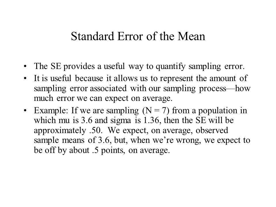Standard Error Of The Mean Ppt Video Online Download