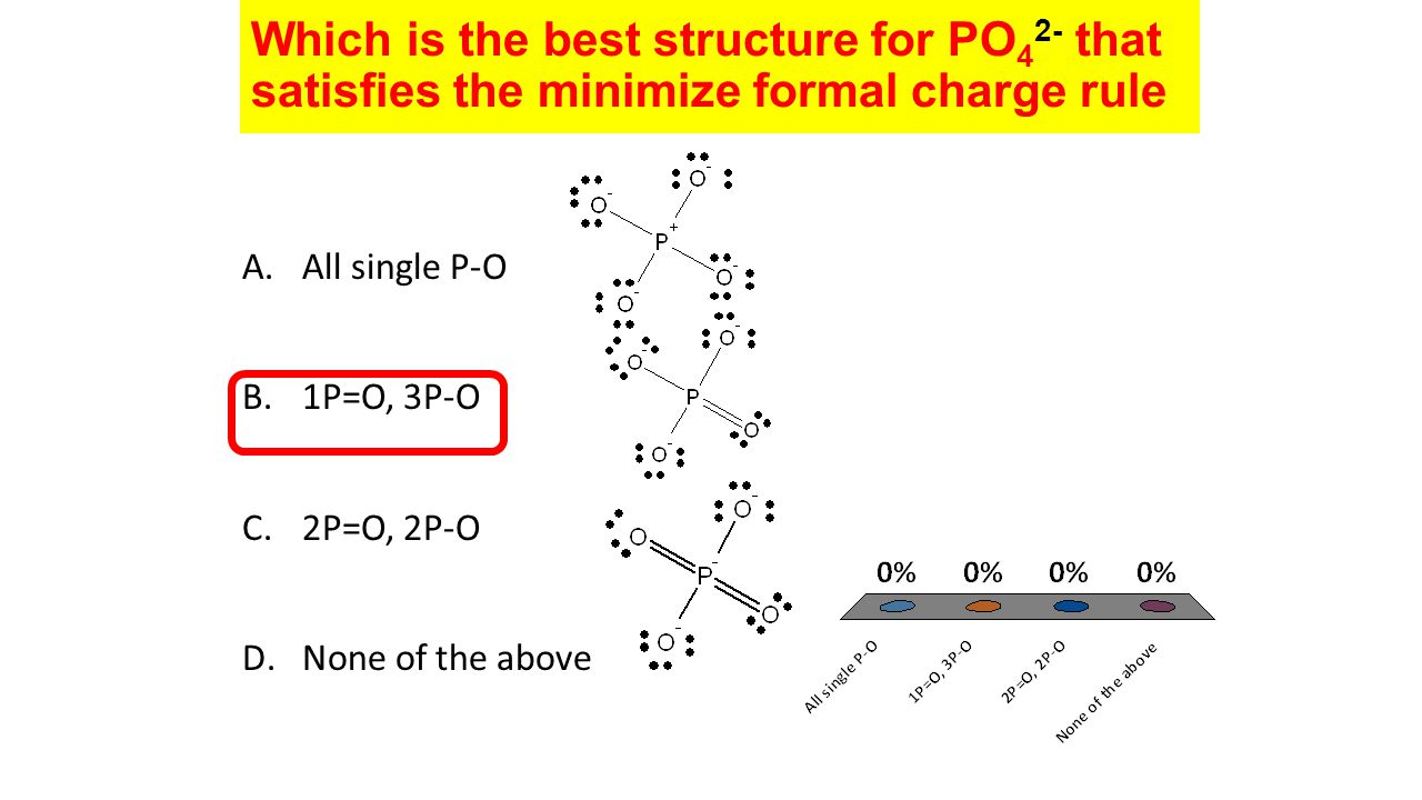 which is the best structure for po42- that satisfies the minimize formal  charge rule