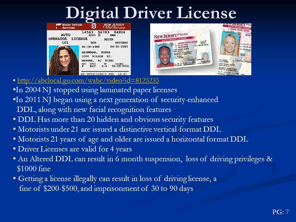 lost or stolen drivers license nj