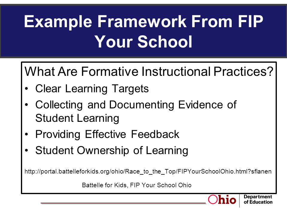 Example Framework From FIP Your School
