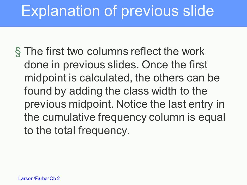 Explanation of previous slide