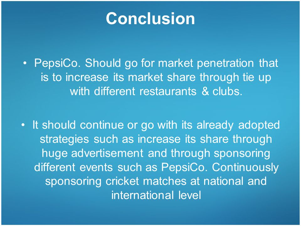 A REPORT ON STRATEGIC MANAGEMENT OF PEPSI COLA INTERNATIONAL (PUNJAB