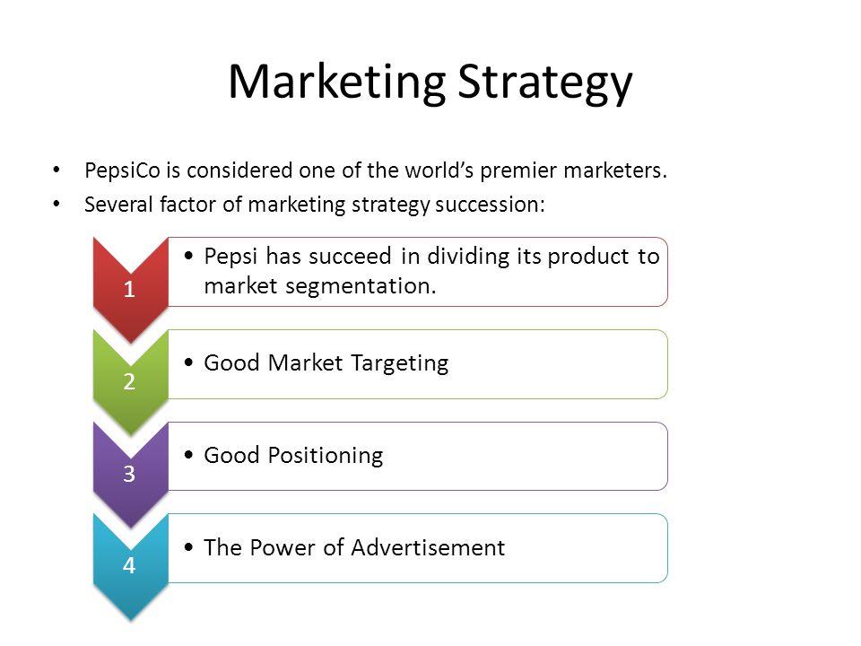 Pepsico Marketing Strategy Ppt