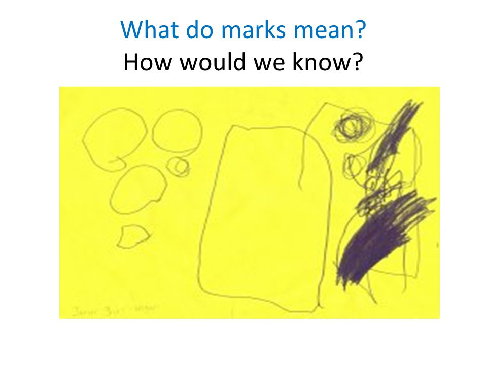 What do marks mean How would we know