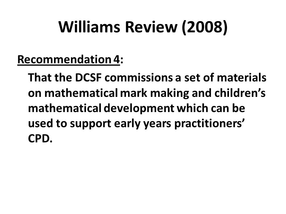 Williams Review (2008)