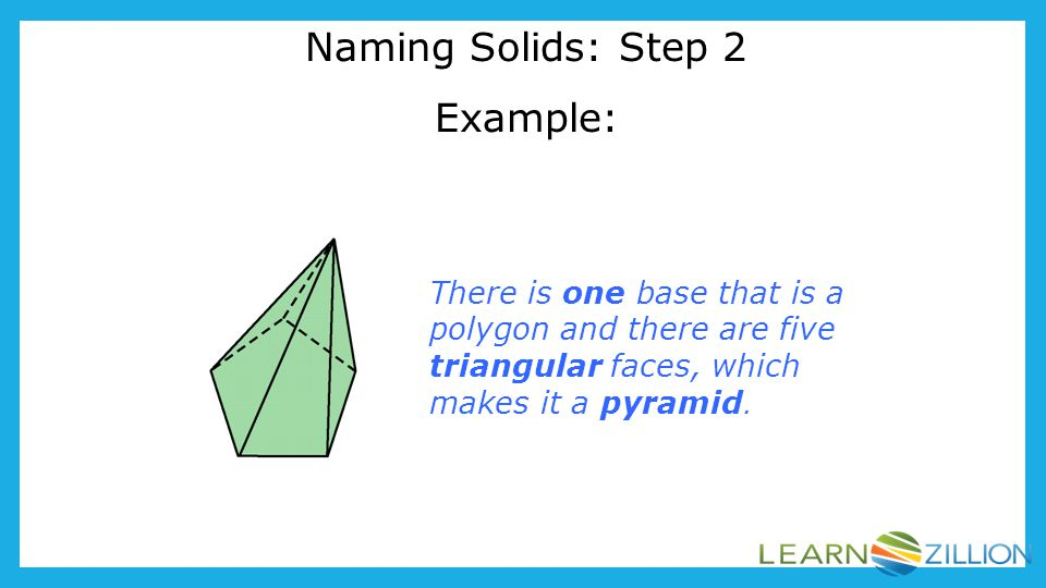 Naming Solids: Step 2 Example: