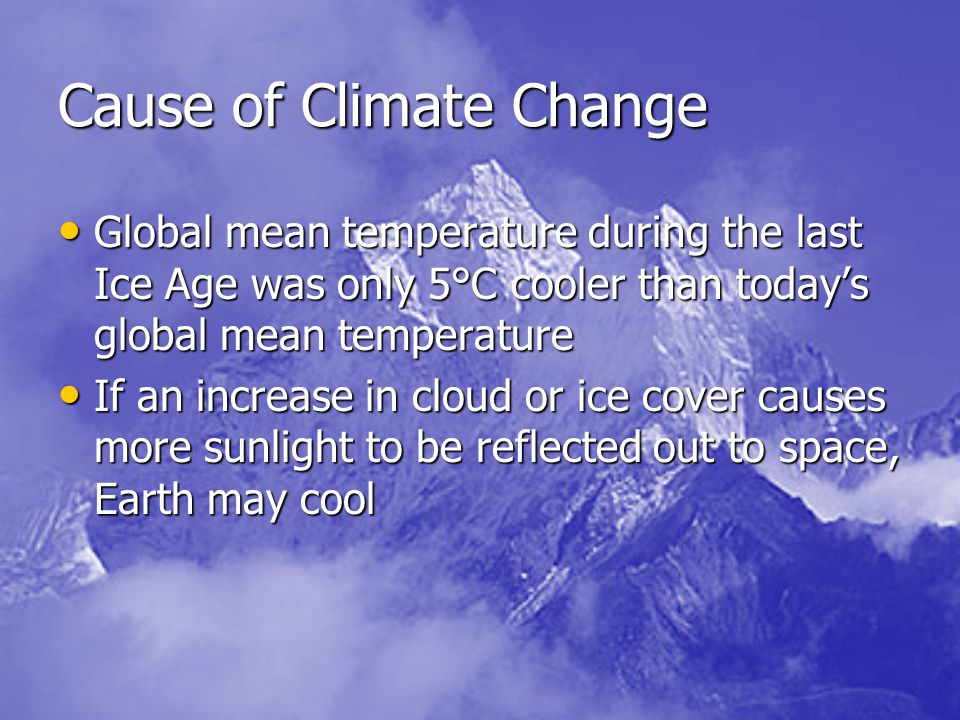 Cause of Climate Change