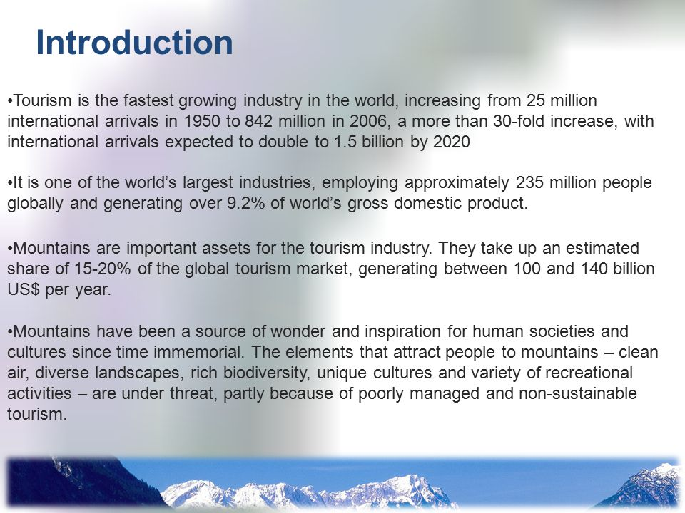 tourism is the fastest growing industry in the world