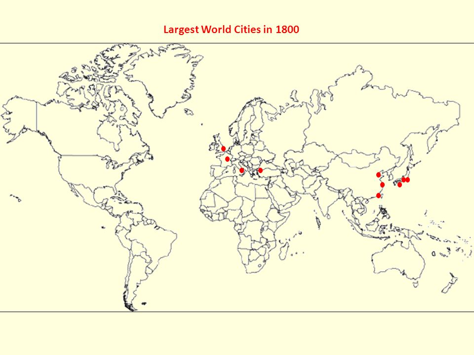 Worlds largest cities ppt video online download largest world cities in 1600 16 largest gumiabroncs Gallery