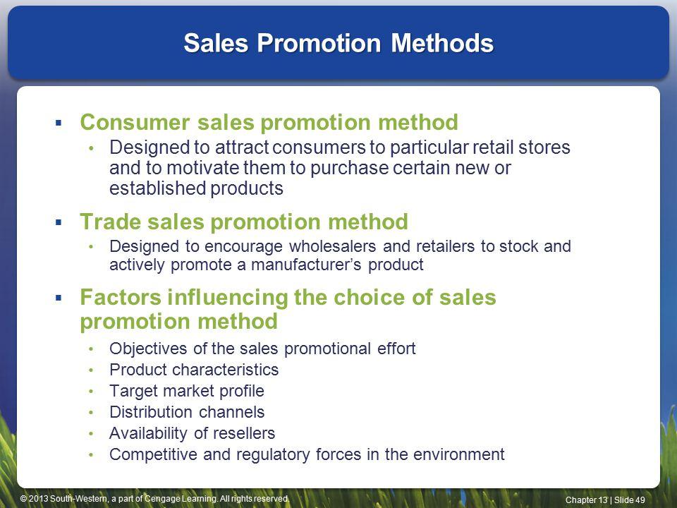 trade sales promotion method