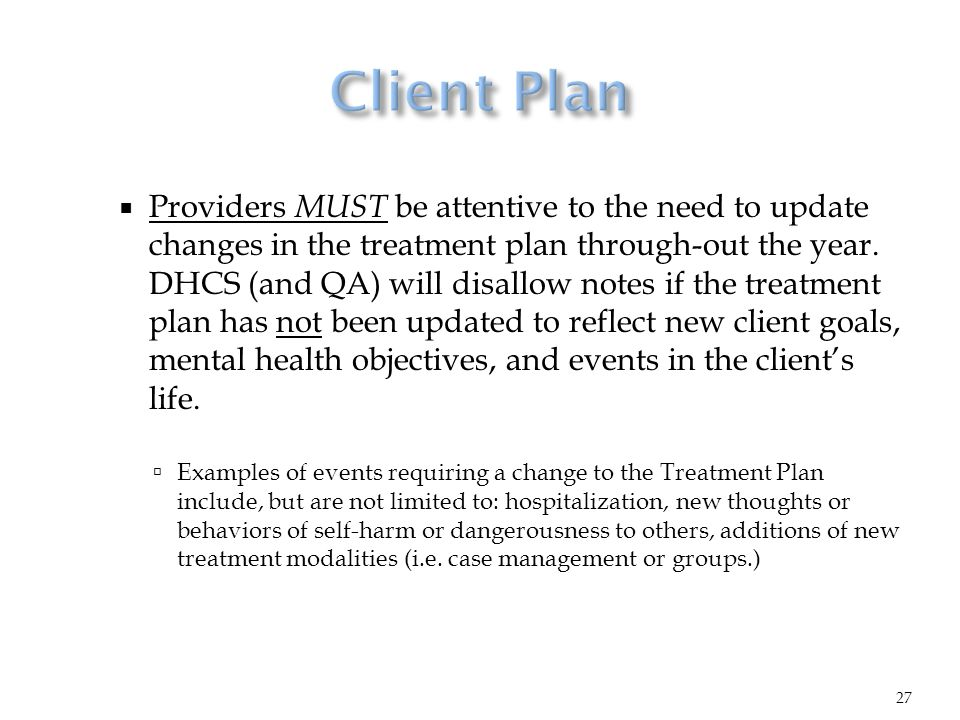 Mental Health Treatment Plan Goals And Objectives Examples The