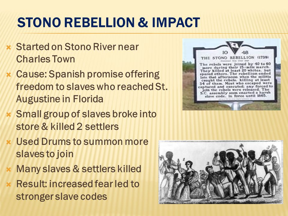 stono rebellion results