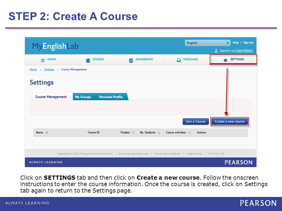 STEP 2: Create A Course