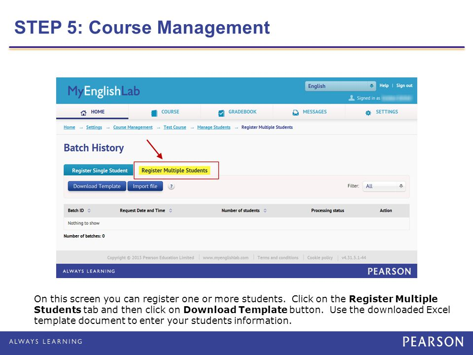 STEP 5: Course Management