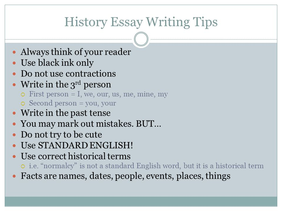 History Essay Writing Tips