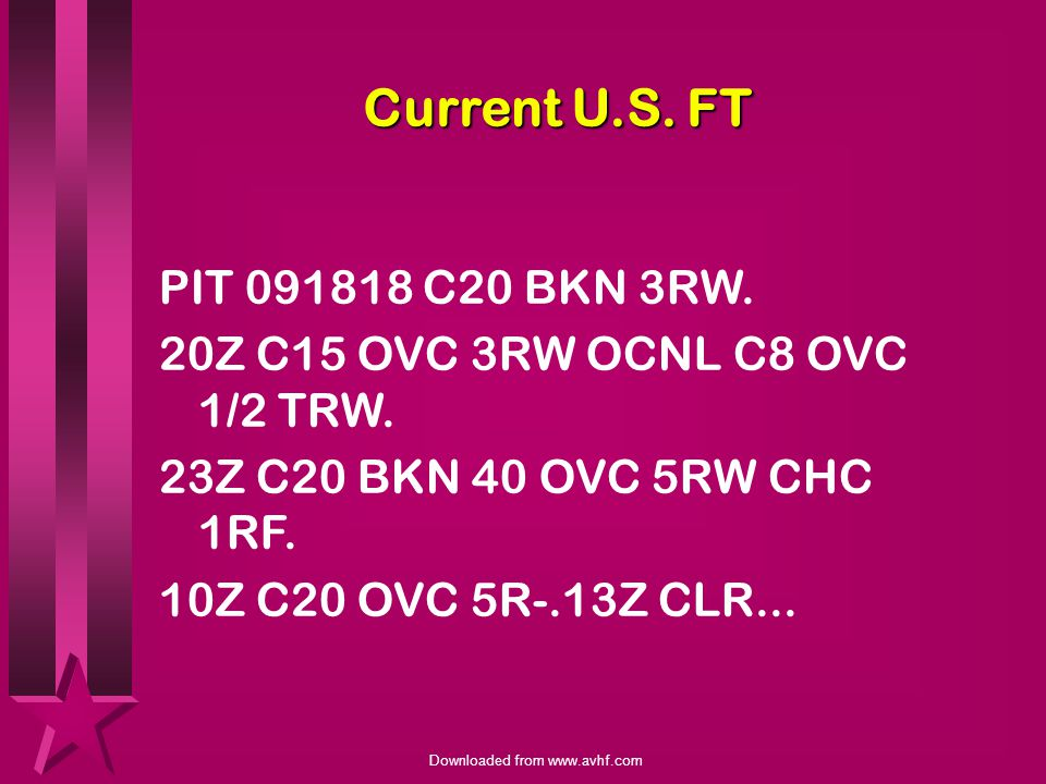 Current U.S. FT PIT C20 BKN 3RW.