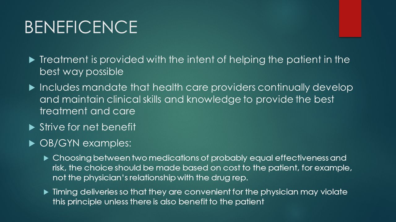 example of beneficence in nursing