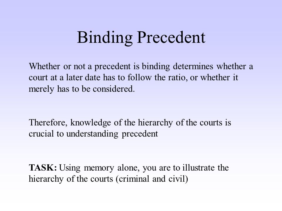 example of binding precedent