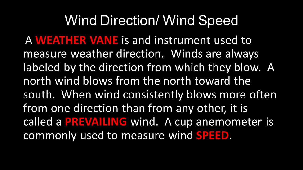 Wind Direction/ Wind Speed