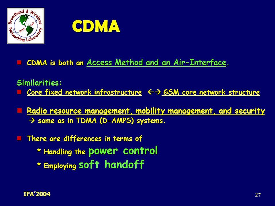 Gsm & cdma network technology |authorstream.